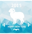 Happy new year 2015 poster with sheep vector