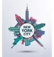New york city architecture retro vector
