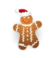 Gingerbread man on a white background vector