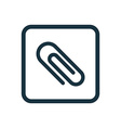 Clip icon rounded squares button vector