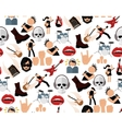 Rock music seamless pattern vector