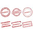 Baseball stamps vector