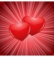Sparkling hearts vector