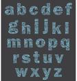 Alphabet of a part of a body vector