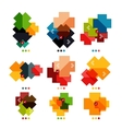 Set of cross geometric shapes - symbols vector