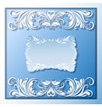 Paper frame and borders vector