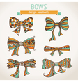 Bows on paper background vector