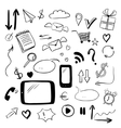 Set with web doodles vector