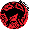 Chinese horoscope monkey vector