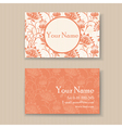 Business card floral orange vector