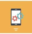 Mobile seo icon vector