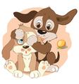 Cartoon little dogs vector