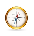 Glossy gold compass vector
