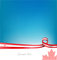 Canada background with flag vector