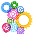 Modeling bright gear wheels background vector