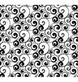 Black seamless pattern silhouette vector