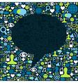 Social media background composition vector
