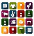 Wine icons set flat vector