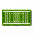 Green grass american football field vector