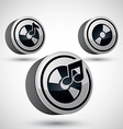 Audio cd icon isolated 3d music theme design vector