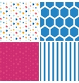 Abstract hanging jewels striped set of four vector