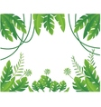 Tropical leaf background vector