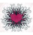 Abstract heart with floral elements vector
