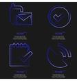 Set of blue web icon flat design simple sticker vector