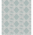 Vintage style circles and waves seamless pattern vector