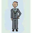 A businessman in a suit vector