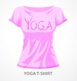 Yoga t-shirt vector