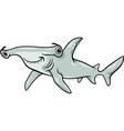 Hammerhead shark cartoon vector