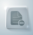 Page of the document glass square icon vector