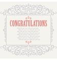 Vintage congratulations card vector