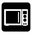 Microwave button vector