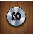 Metal icon on wooden background eps10 vector