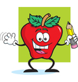 Cartoon apple student vector