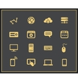 Internet and web icon set vector