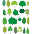 Trees cartoon set vector