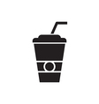 Paper cup silhouette vector