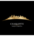 Charlotte north carolina city skyline silhouette vector