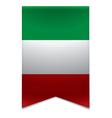 Ribbon banner - italian flag vector