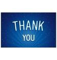 Thank you - blue dreamlike lettering vector