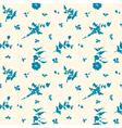 Seamless silhouette flower blue vector