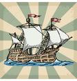 Vintage grunge background with sailboat vector