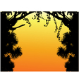 Nature tree silhouette vector