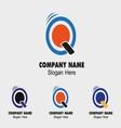 Q logo template - symbol letter q vector