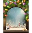 Christmas theme - window with a kind eps 10 vector