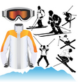 Ski objects vector