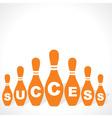 Bowling pins make success word vector